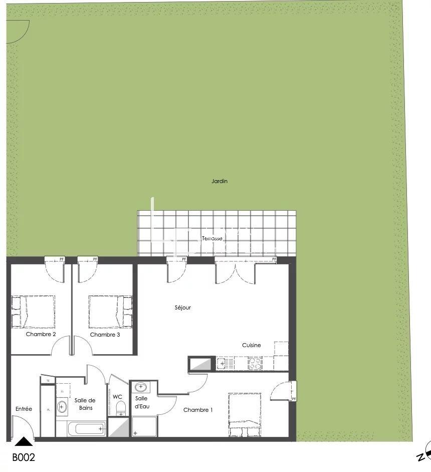 Vente de appartement d'une surface de 85.5 m2
