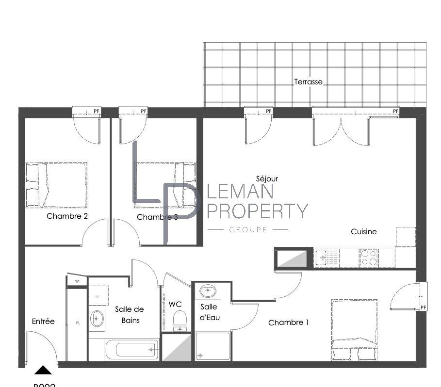 appartement de 85.5 m2 comprenant 4 pièces