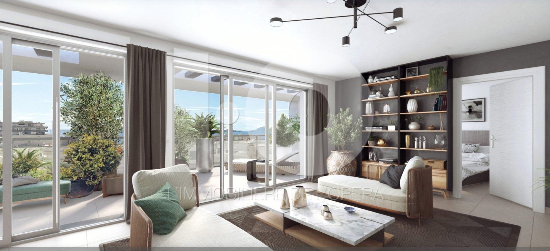ANTiBES -/ JUAN LES PINS - Appartement de 4 Pièces 100 m2 - Terrasses RoofTop