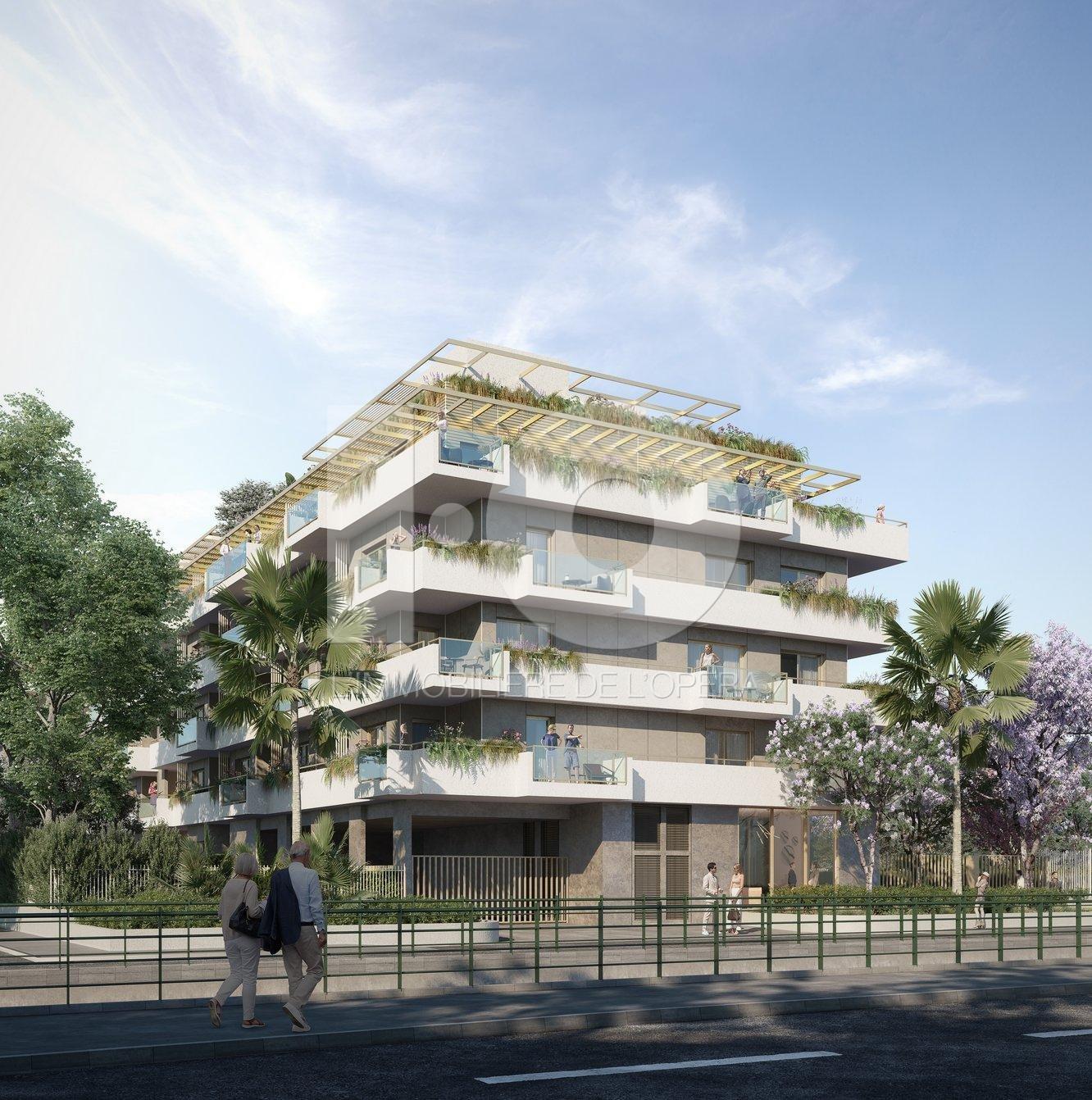CAGNES S/ MER - Appartement 2 Pièces en Rez de Jardin 46m2, Terrasse & Jardin