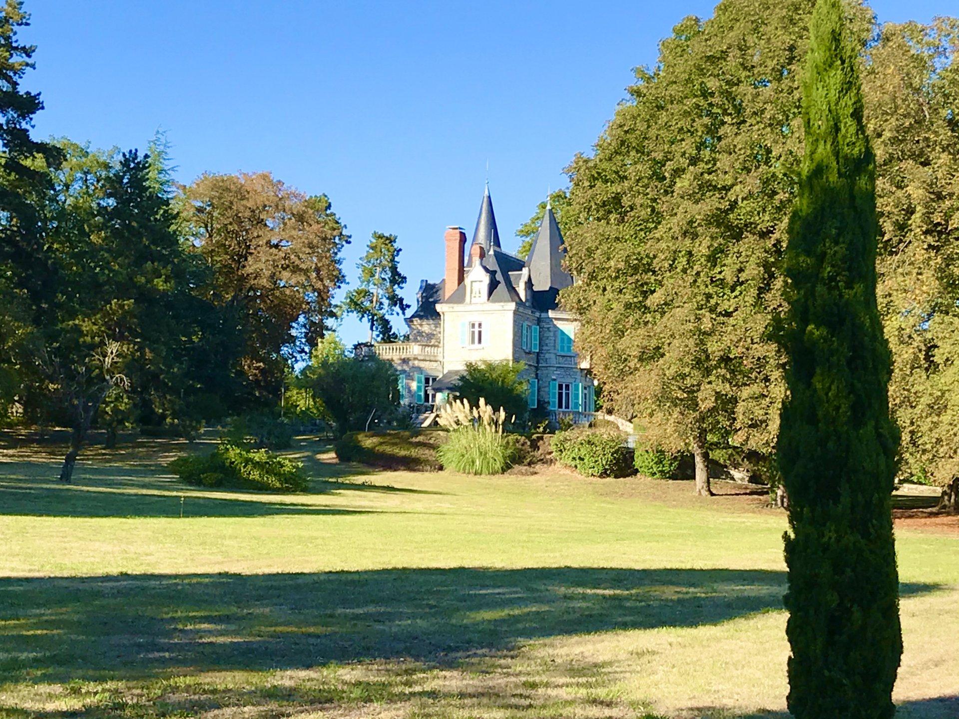 CHATEAU 19è restauré dans village à 1h de Lyon