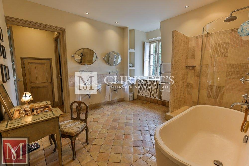 Bathroom, tile floors