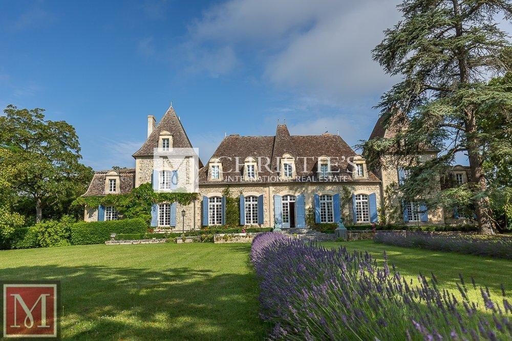 Chateau, grass lawn