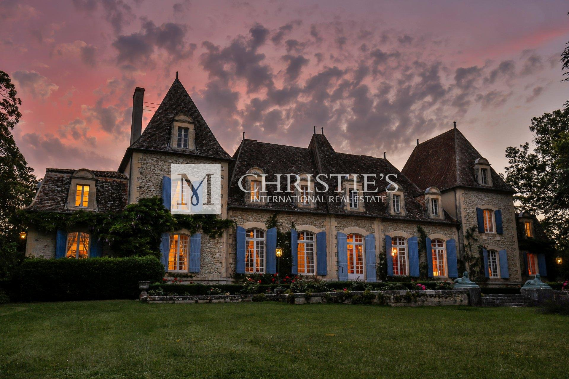 Chateau at sunset