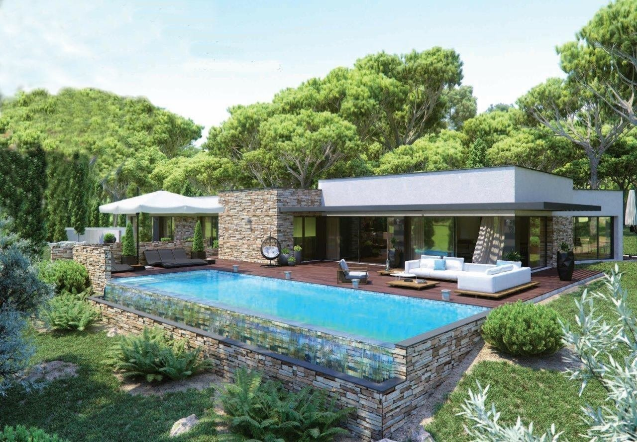 CONTEMPORARY PROJECT  OF LUXURY VILLA CLOSE GOLF AT  SAINT RAPHAEL
