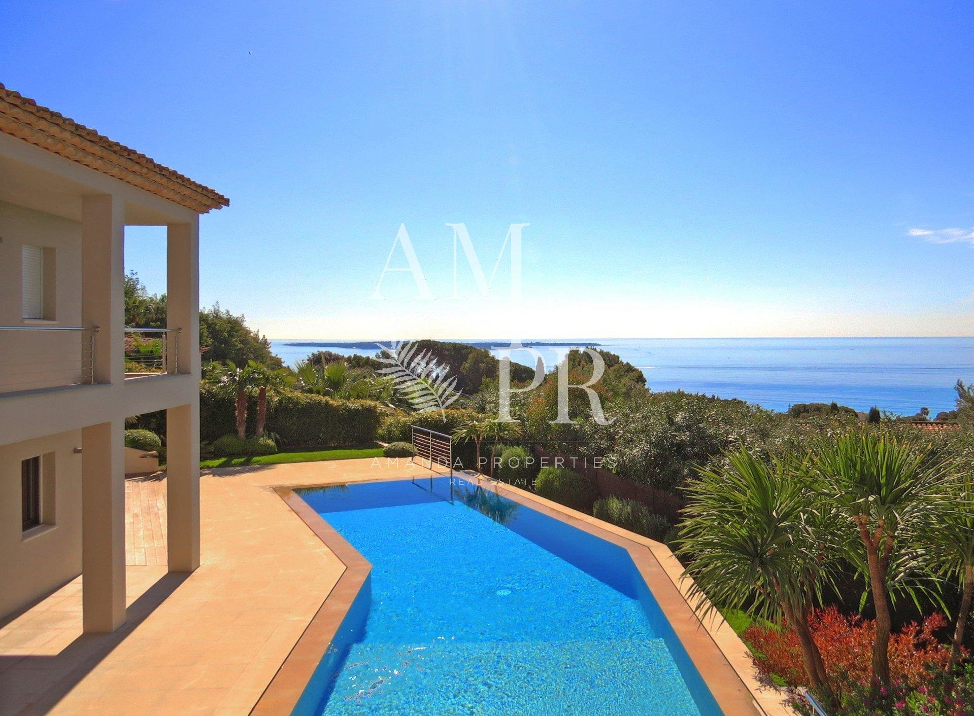 Brand new contemporary villa - Panoramic sea view - Cannes Croix des Gardes