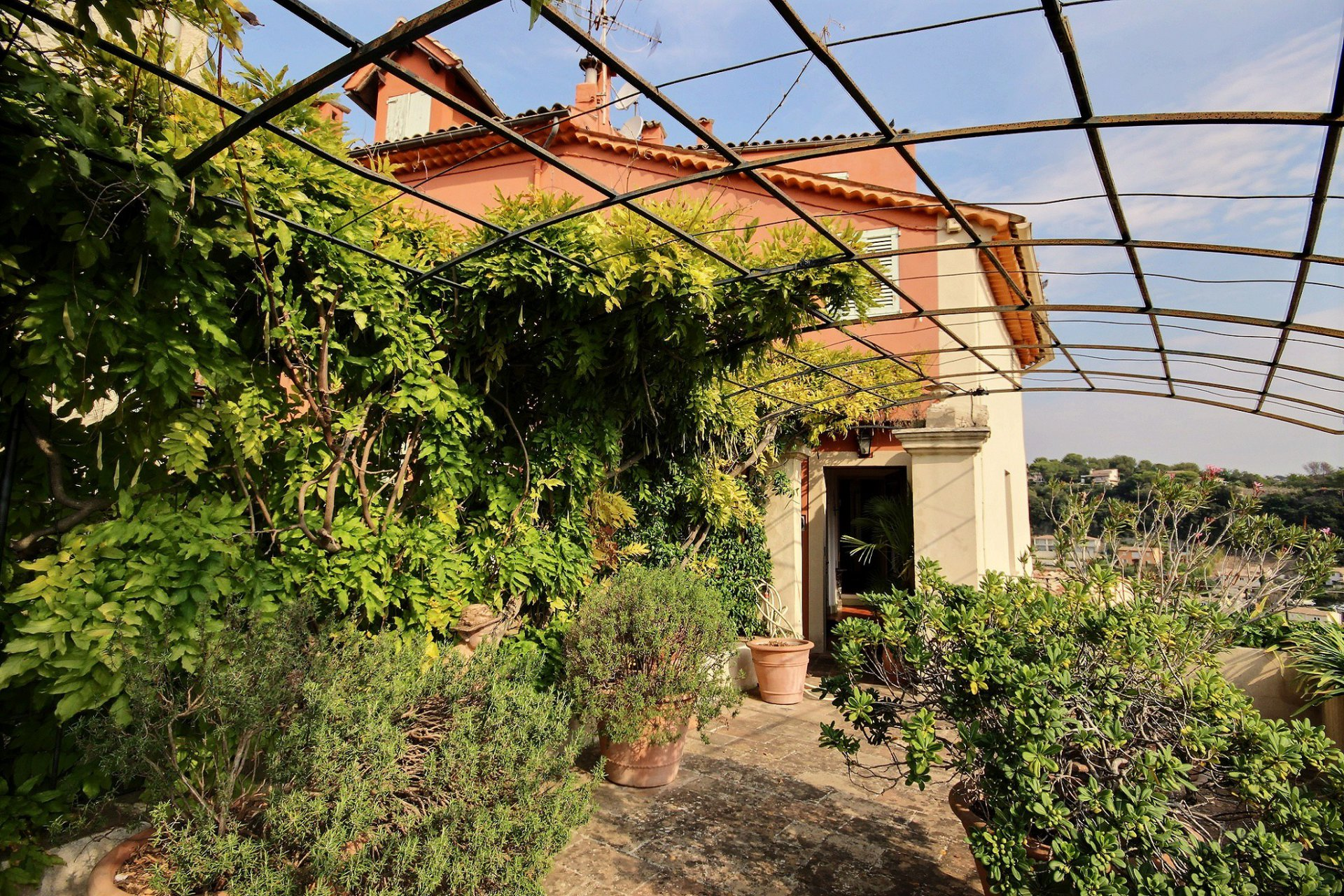 Exceptional Village House with Sea Views in Biot Village