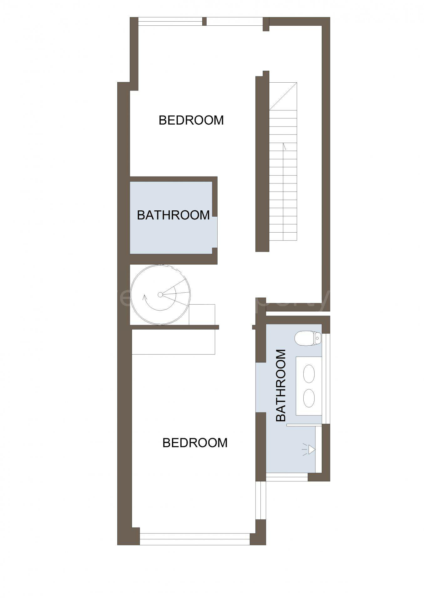 Stilren lägenhet med takterrass