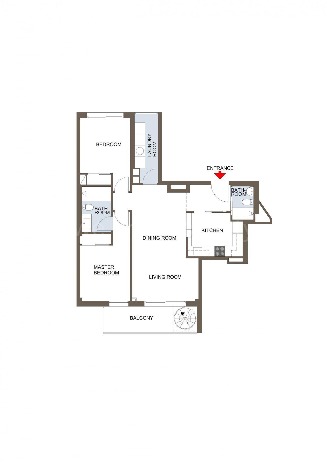 Penthouse med stor takterrass