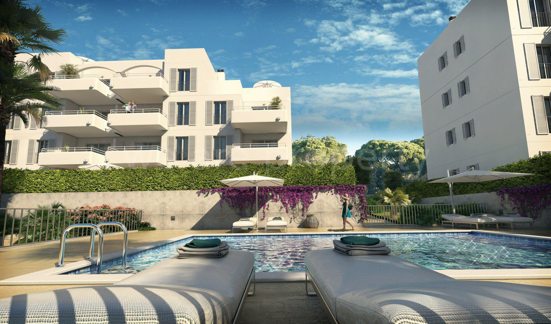 New built penthouses