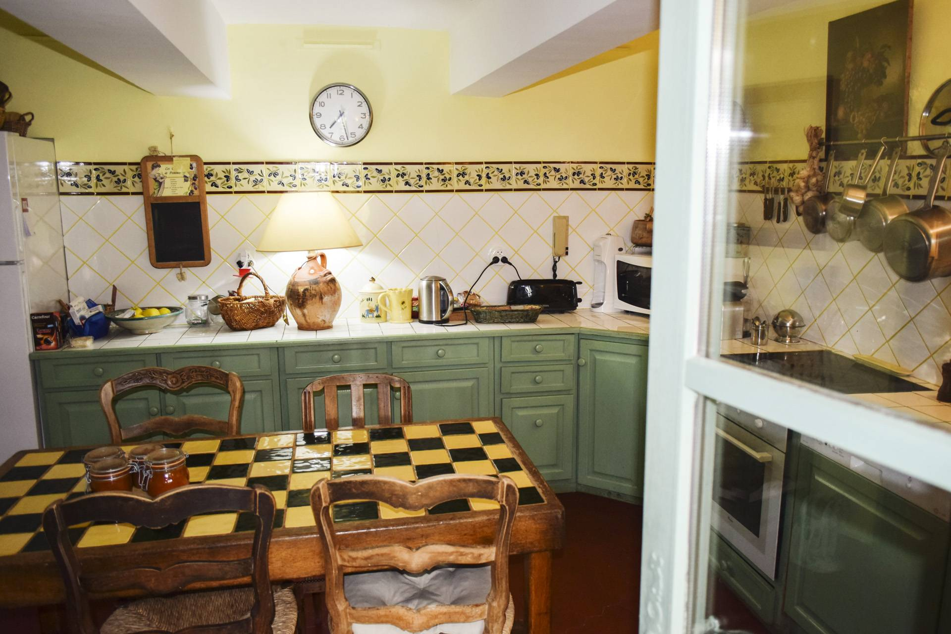 kitchen 2  renovated country house on 8 ha, swimming pool, caretaker's house, aups var, provence
