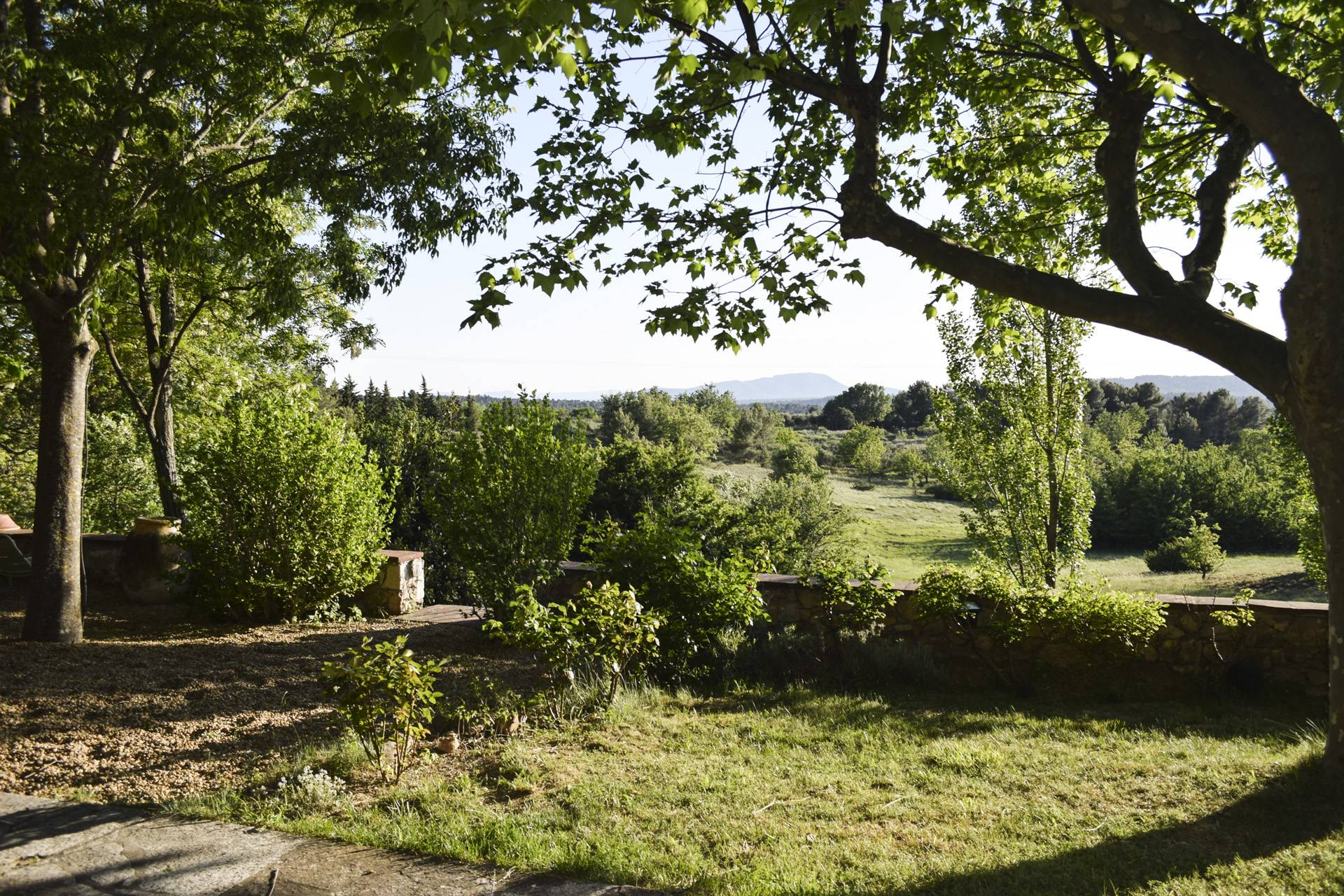 terrace view 2  renovated country house on 8 ha, swimming pool, caretaker's house, aups var, provence