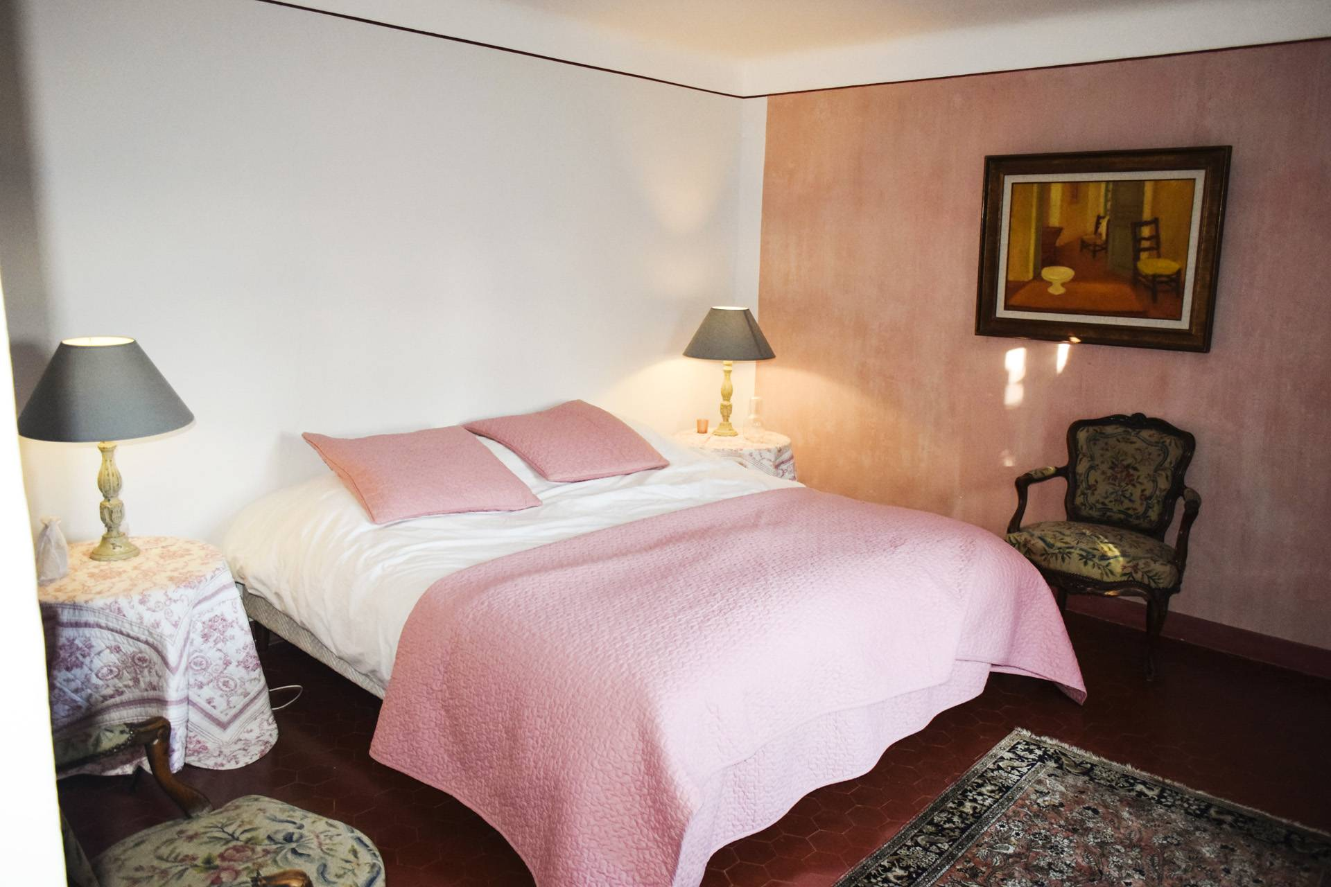 bedroom 1 renovated country house on 8 ha, swimming pool, caretaker's house, aups var, provence
