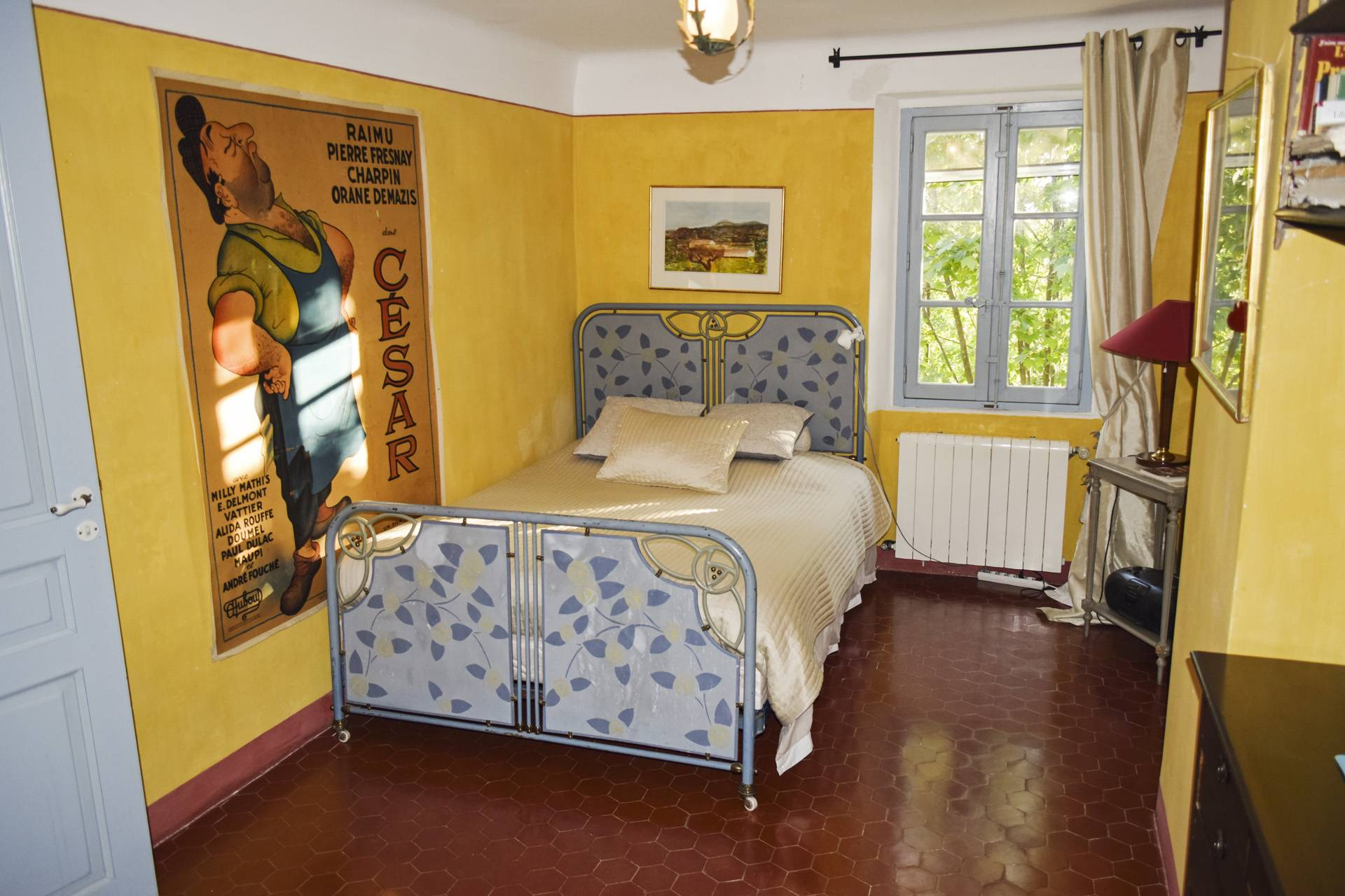 bedroom 4  renovated country house on 8 ha, swimming pool, caretaker's house, aups var, provence