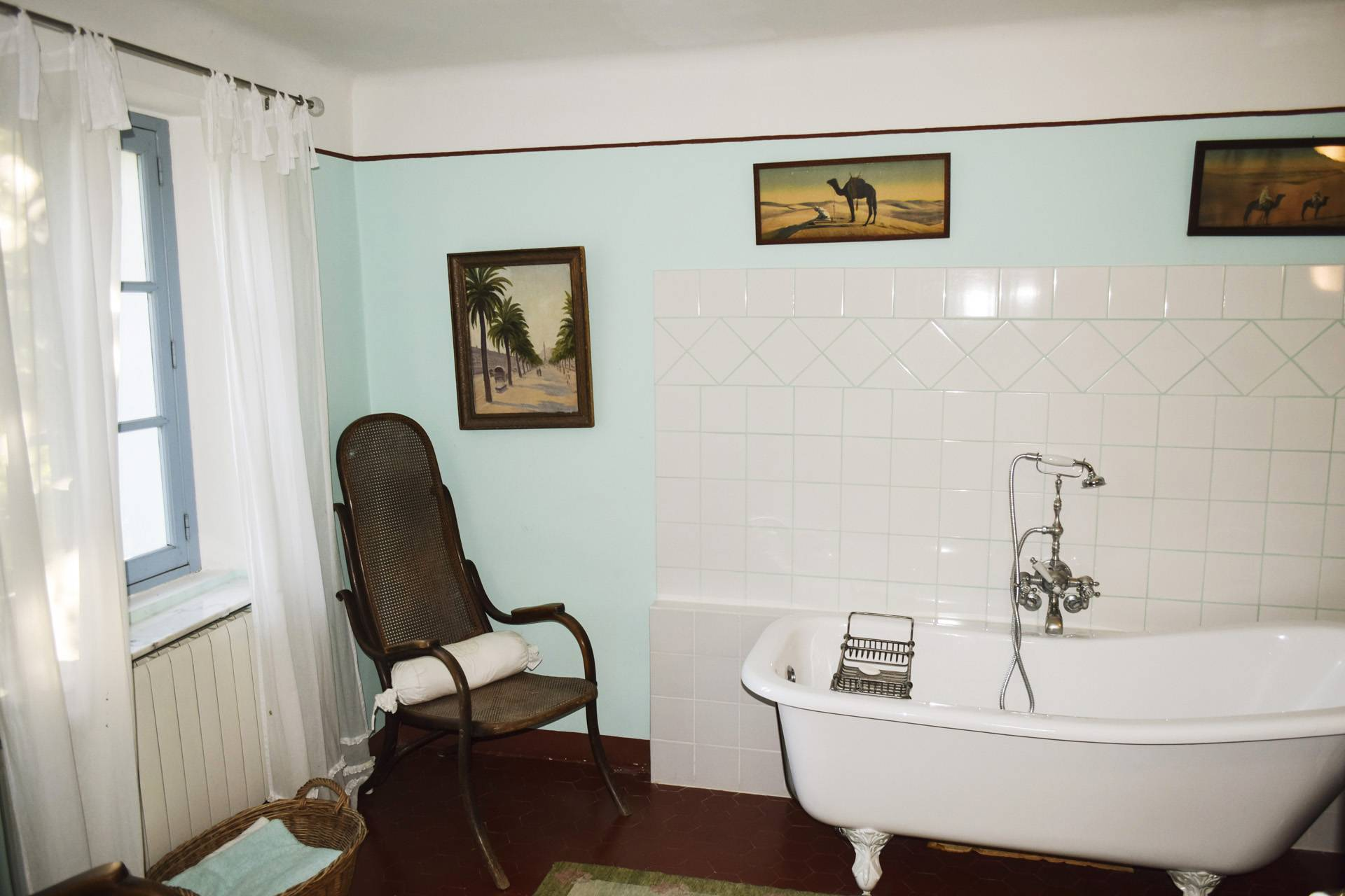 common bathroom  renovated country house on 8 ha, swimming pool, caretaker's house, aups var, provence
