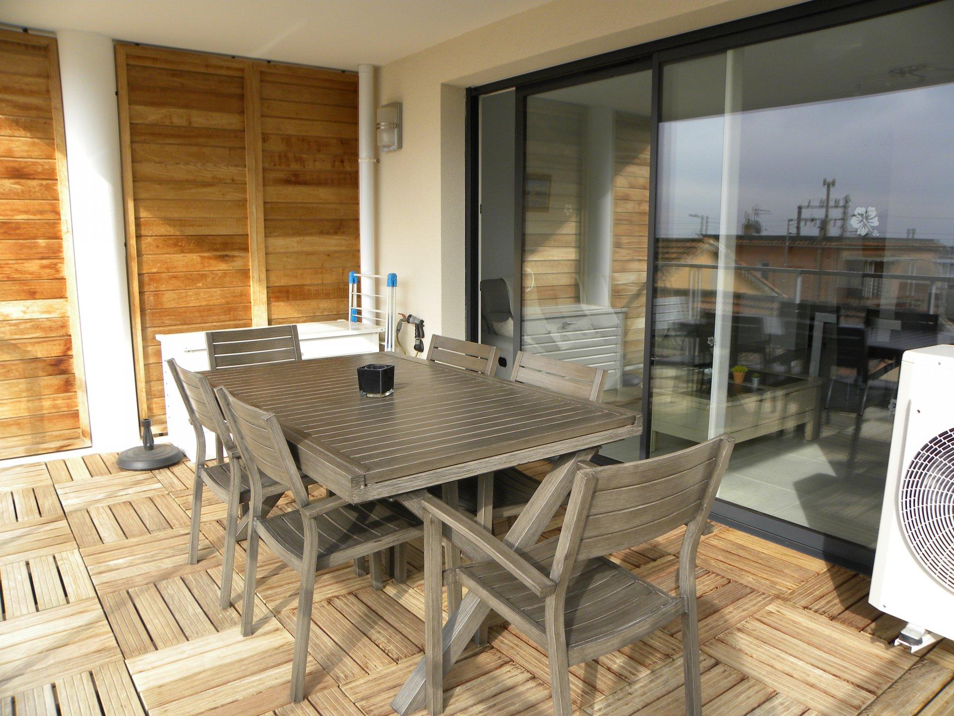 Terrasse 15 m² aménagée