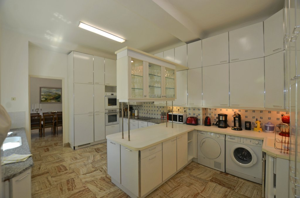 Kitchen, stainless steel, kitchen island, tile