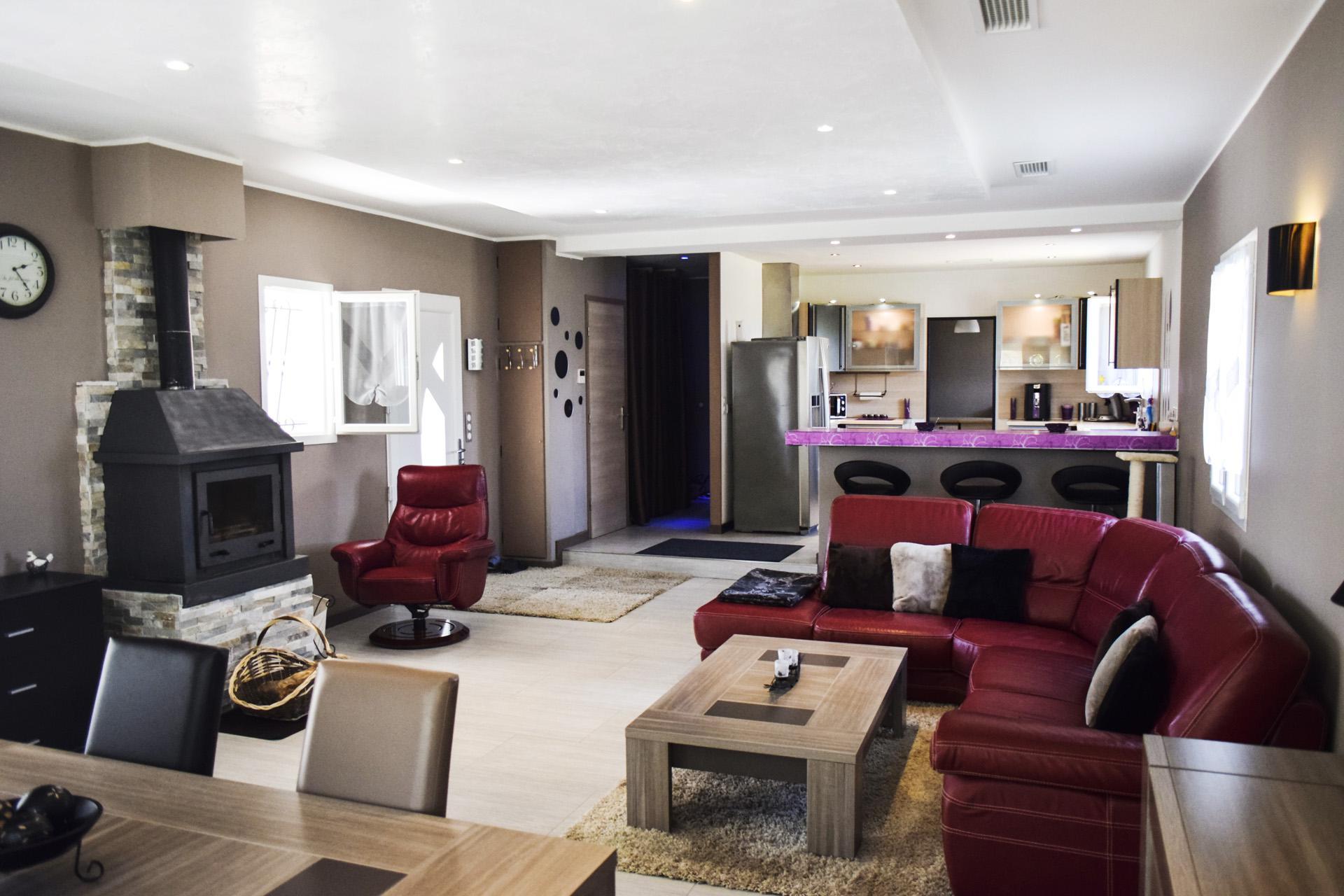 Open plan kitchen, Villa in Provence Var Tourtour