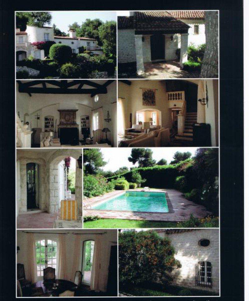Dans un Domaine fermé au-dessus du village de Saint-Paul, belle propriété vue exceptionnelle..