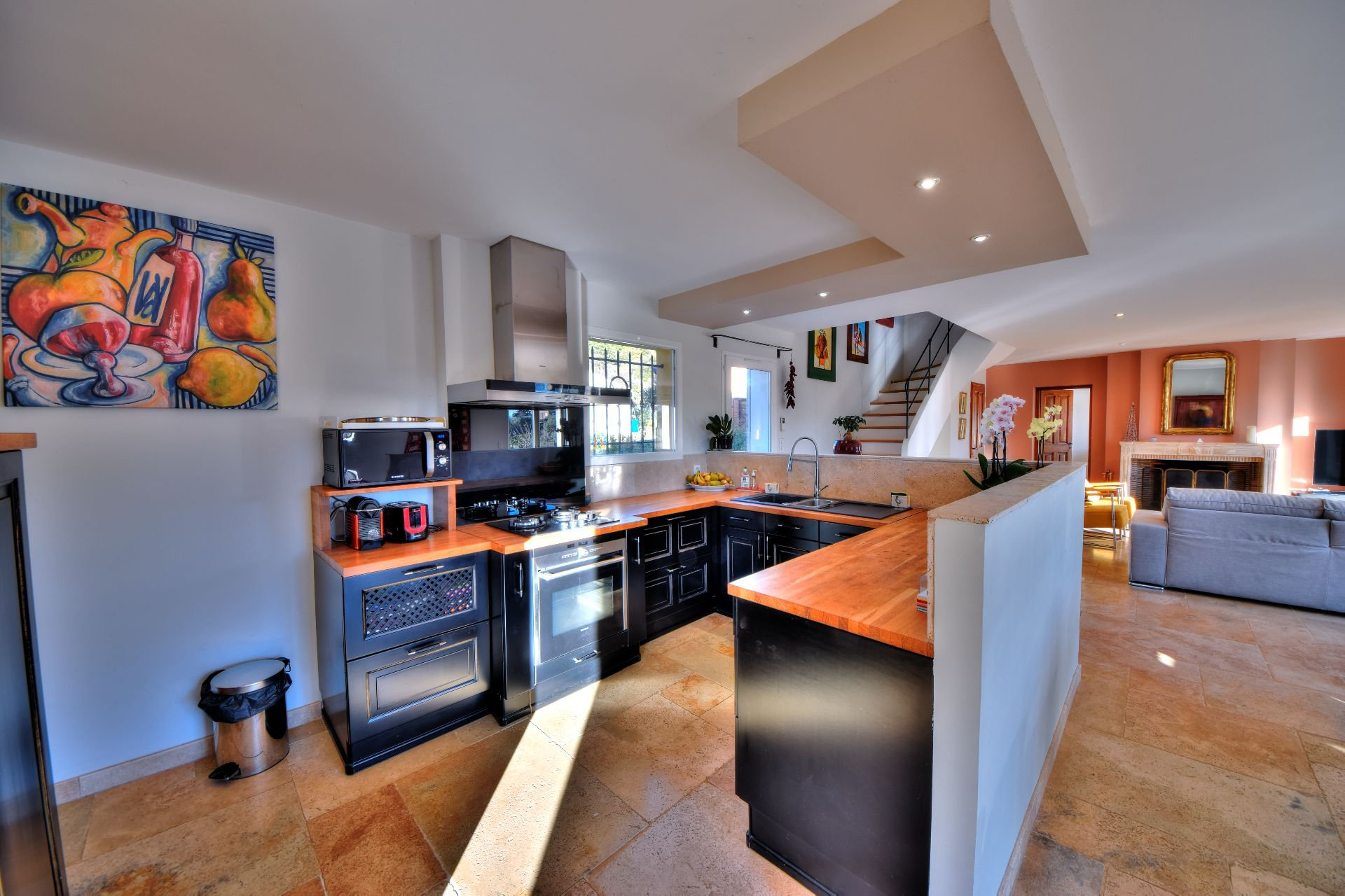 Kitchen equipped of the bastide 4 bedrooms with swimming pool Aups, Var, Provence