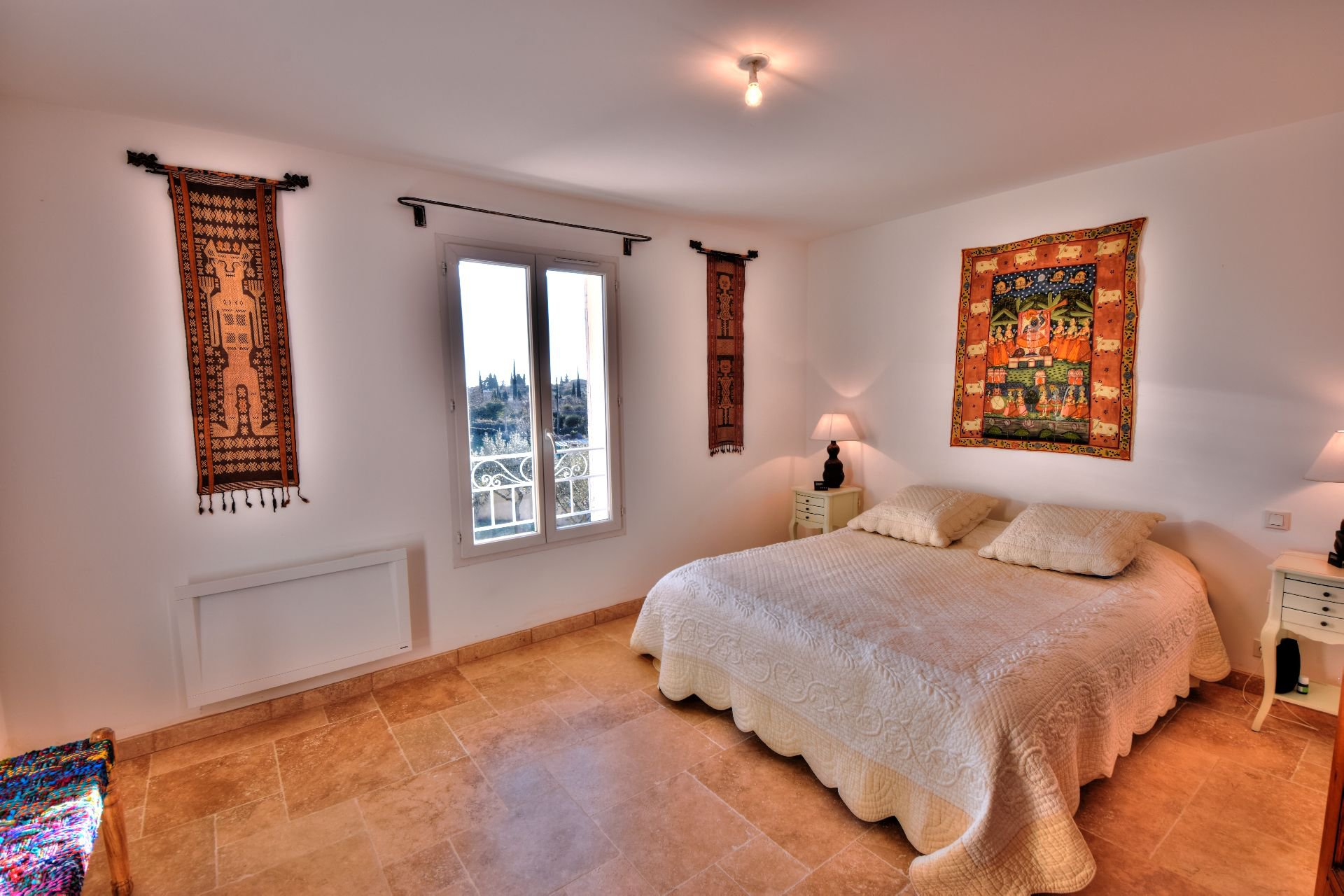 Master bedroom on the first floor of the Bastide 4 bedrooms with swimming pool Aups, Var, Provence