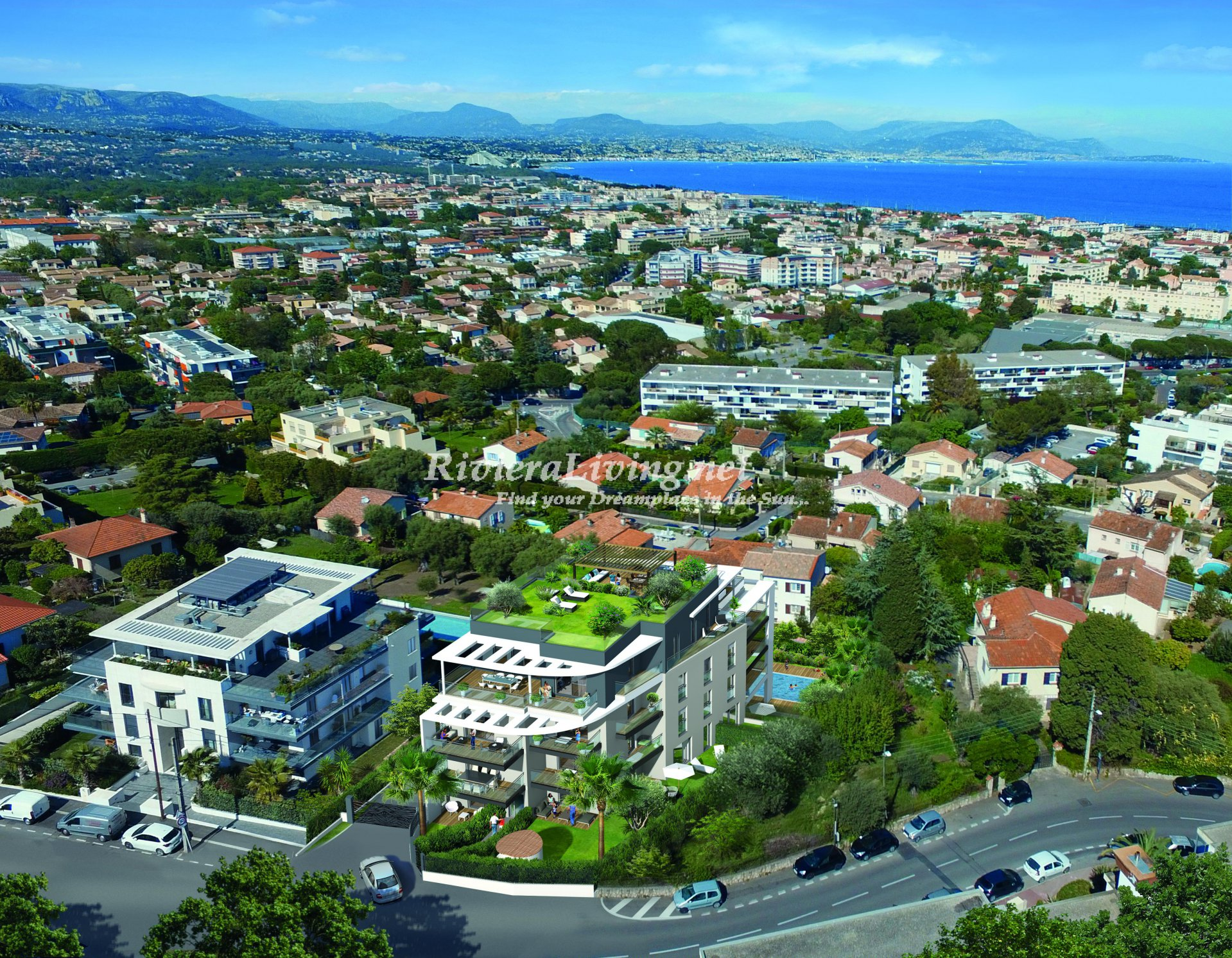 ANTIBES --- NEW PROGRAM WITH SEA VIEW AND SWIMMING POOL