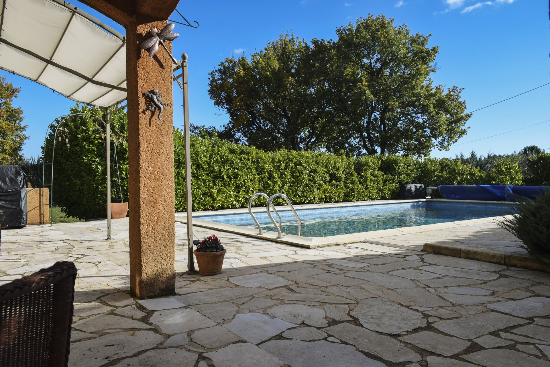 terrace view peaceful country house with pool aups var provence verdon