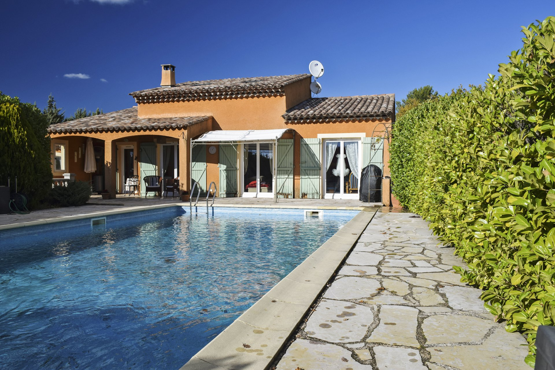swimming pool view peaceful country house with pool aups var provence verdon