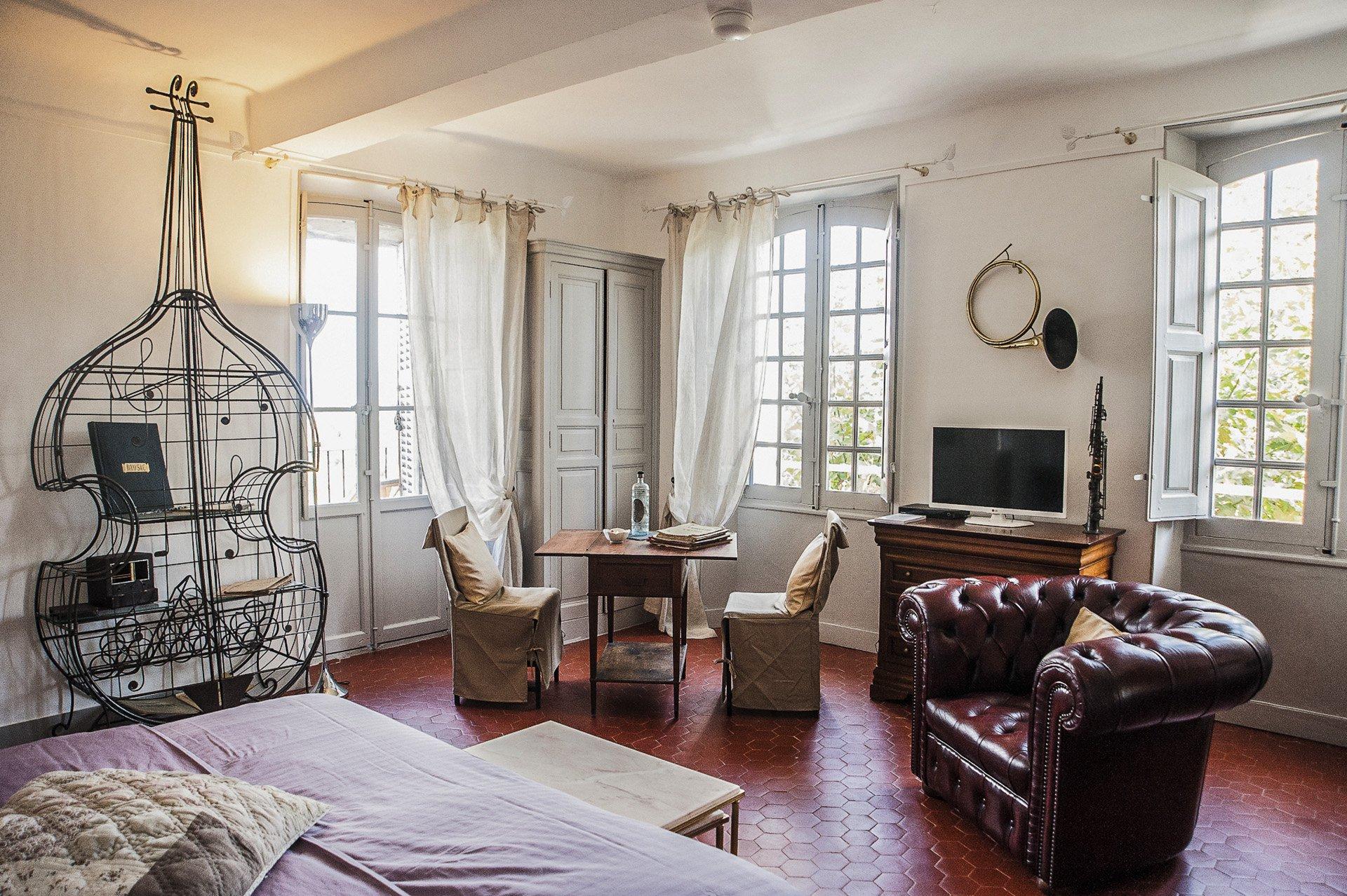 chambre 2 Bastide 18 ième siècle 750 m², sur 2 ha chambres d'hôtes, le luc, var, provence