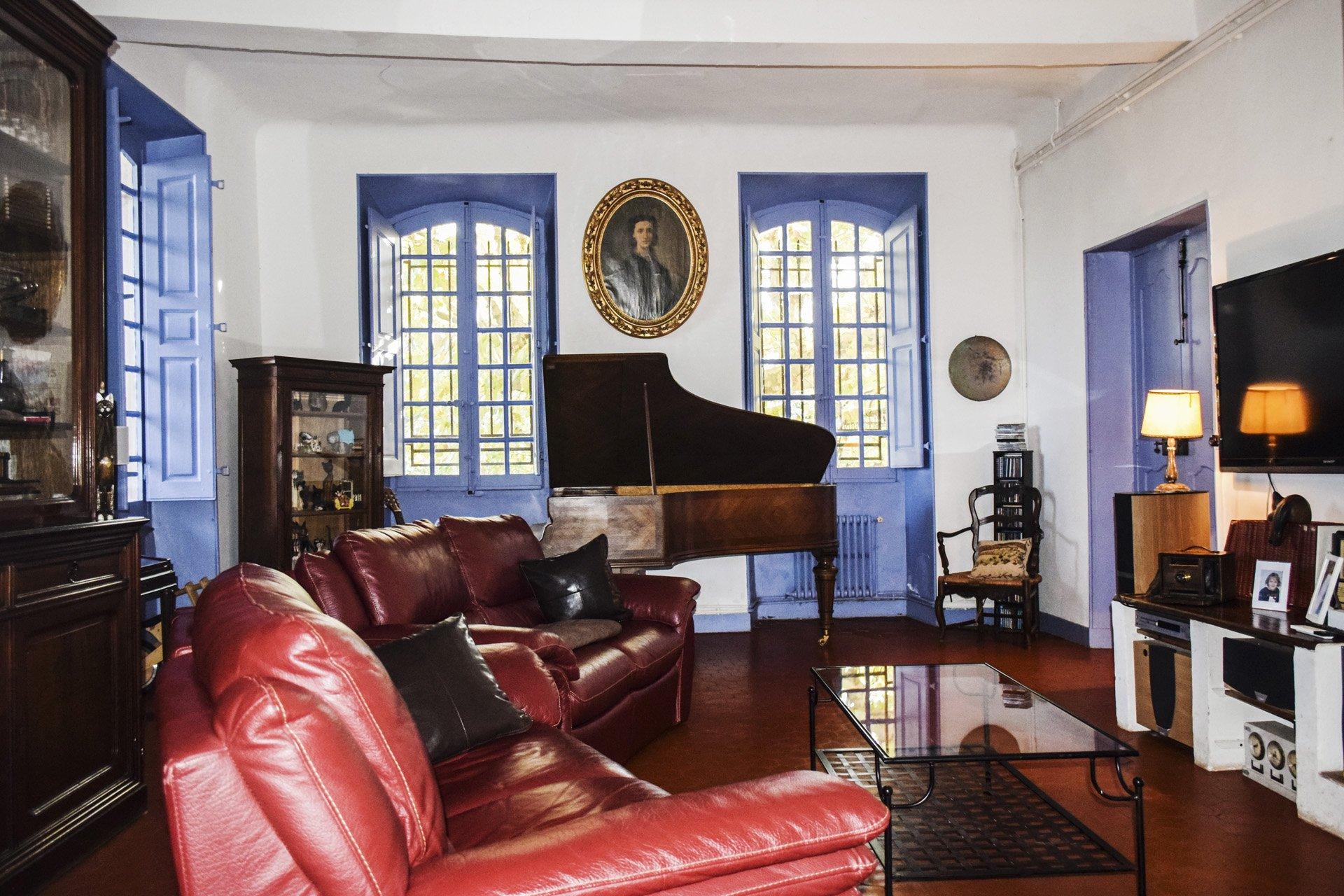 salon Bastide 18 ième siècle 750 m², sur 2 ha chambres d'hôtes, le luc, var, provence