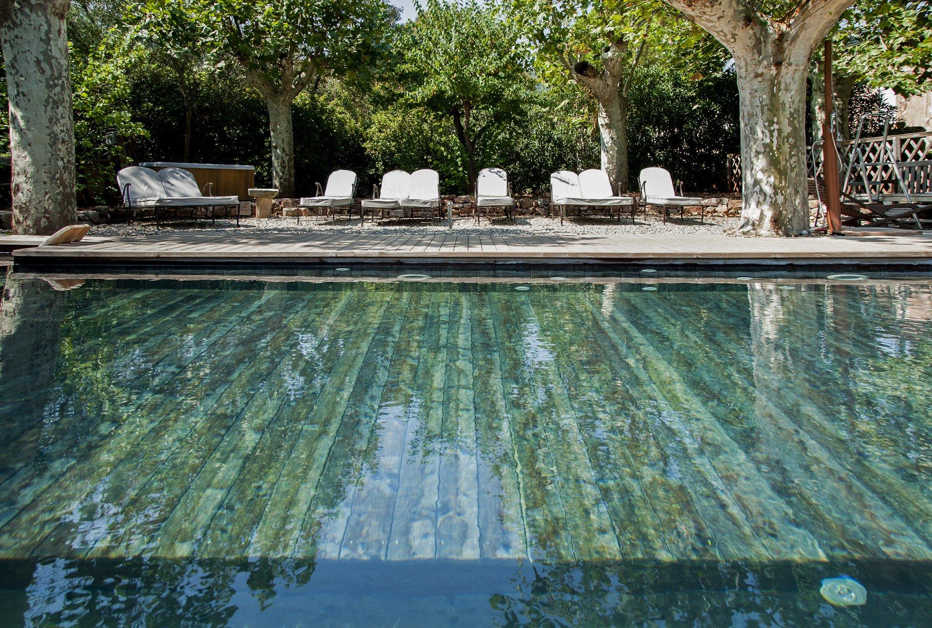 piscine en bois Bastide 18 ième siècle 750 m², sur 2 ha chambres d'hôtes, le luc, var, provence