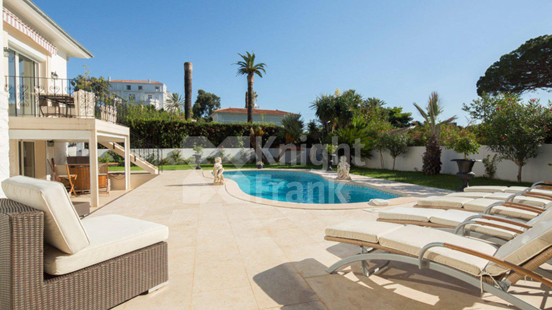 cap d 39 antibes villa with pool next to the beach. Black Bedroom Furniture Sets. Home Design Ideas