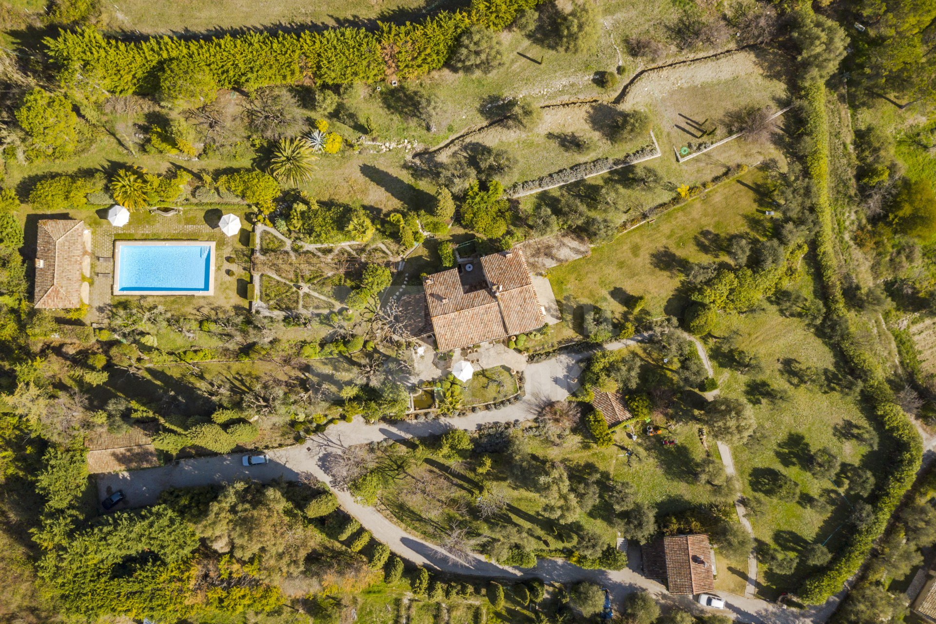 Stone Bastide of 1895 with large mature garden guest house and Pool