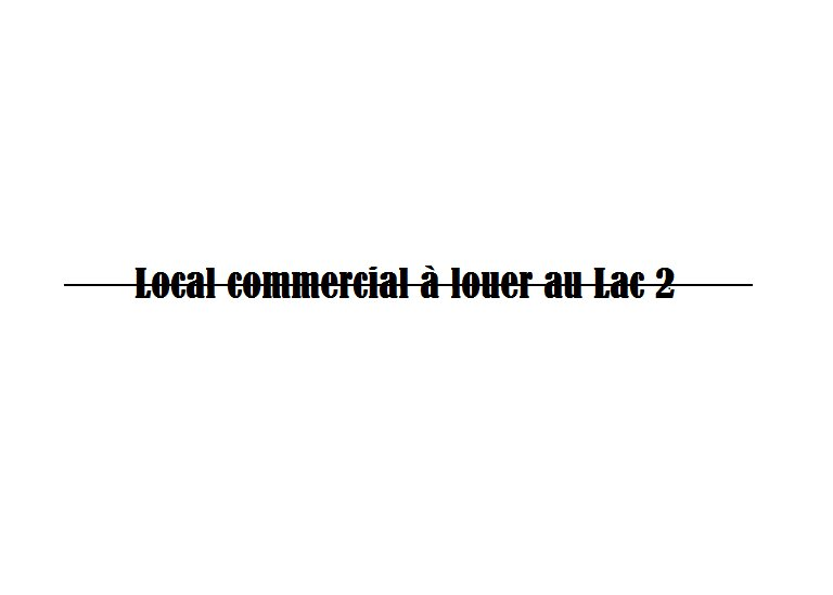 Local commercial a louer au lac 2