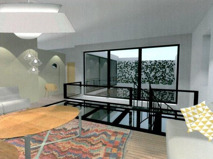 Loft with terrace for sale in Paris 4th Le Marais