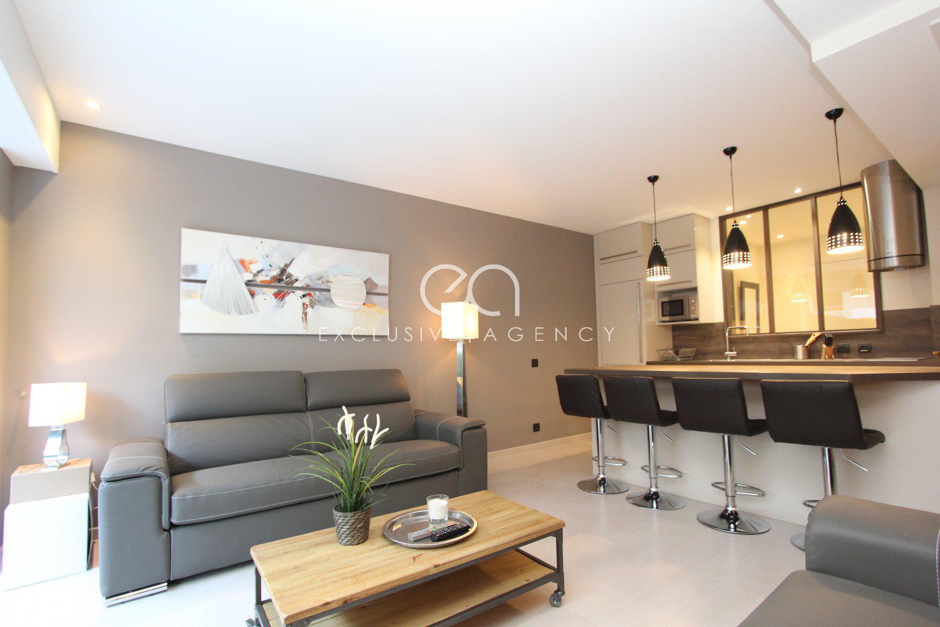 Cannes Centre location luxueux 3 pièces 60m² avec terrasse pour 2 à 4 personnes.