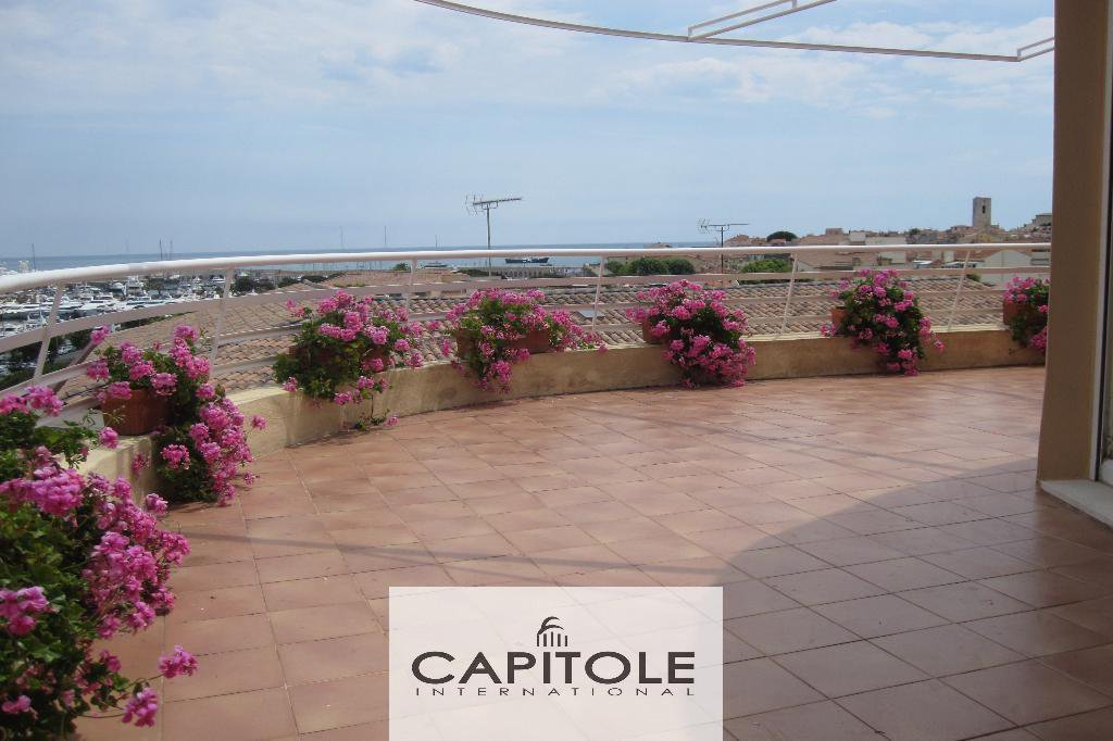 Antibes harbor penthouse sea & mountains view garage beaches