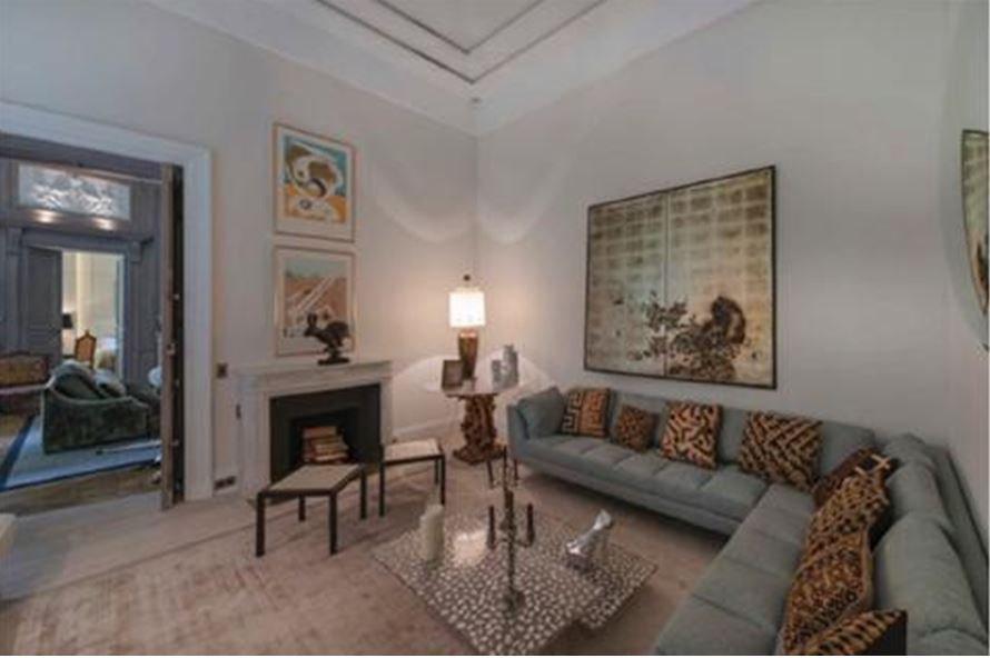 Living-room, fireplace