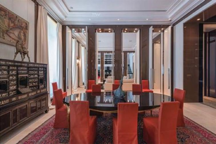 Dining room, natural light