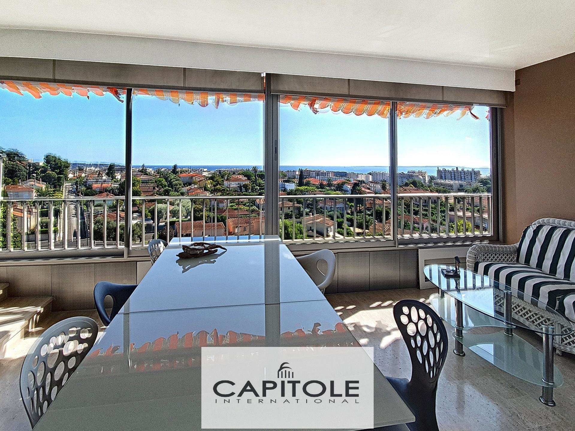 For sale, Antibes, panoramic sea view penthouse, cellar, parking, garage