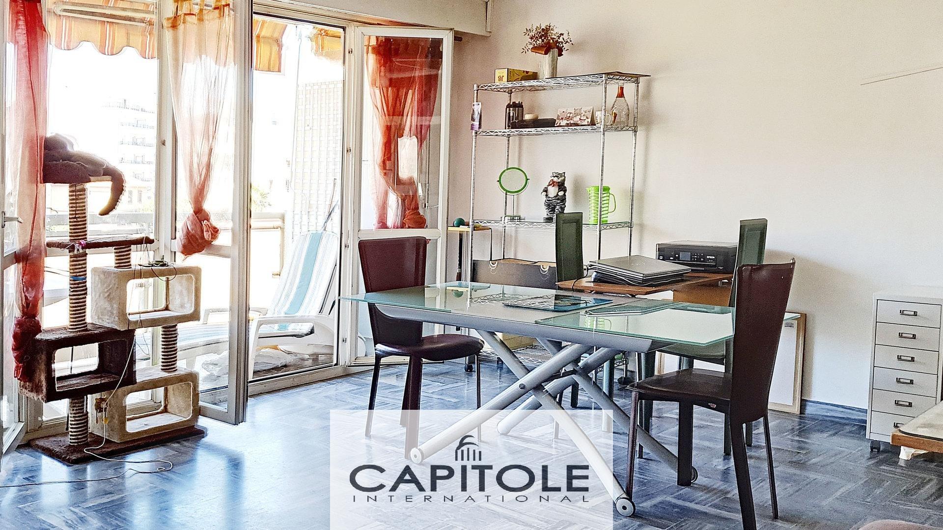 For sale, Juan-les-Pins, 1 bedroom apartment, top floor, terrace, garage, sea, shops