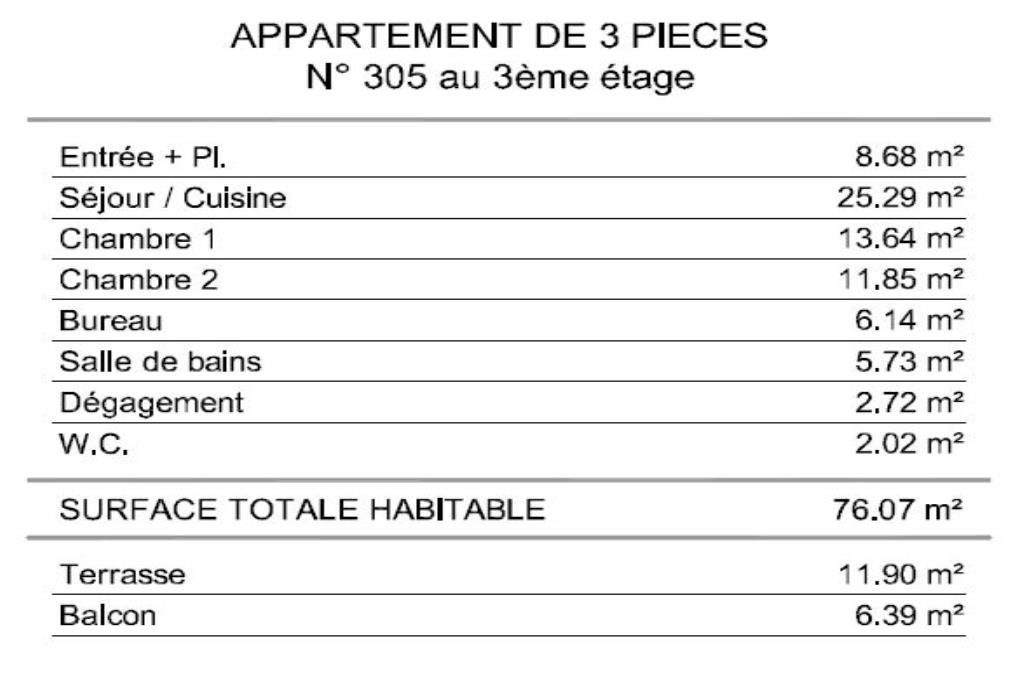 Development Apartment - La Trinité