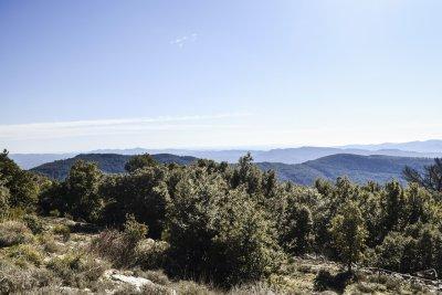 Vue mer de la Bergerie en pierre autonome bargemon Var Provence