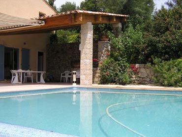 Chateauneuf limite Valbonne, superbe villa vue panoramique