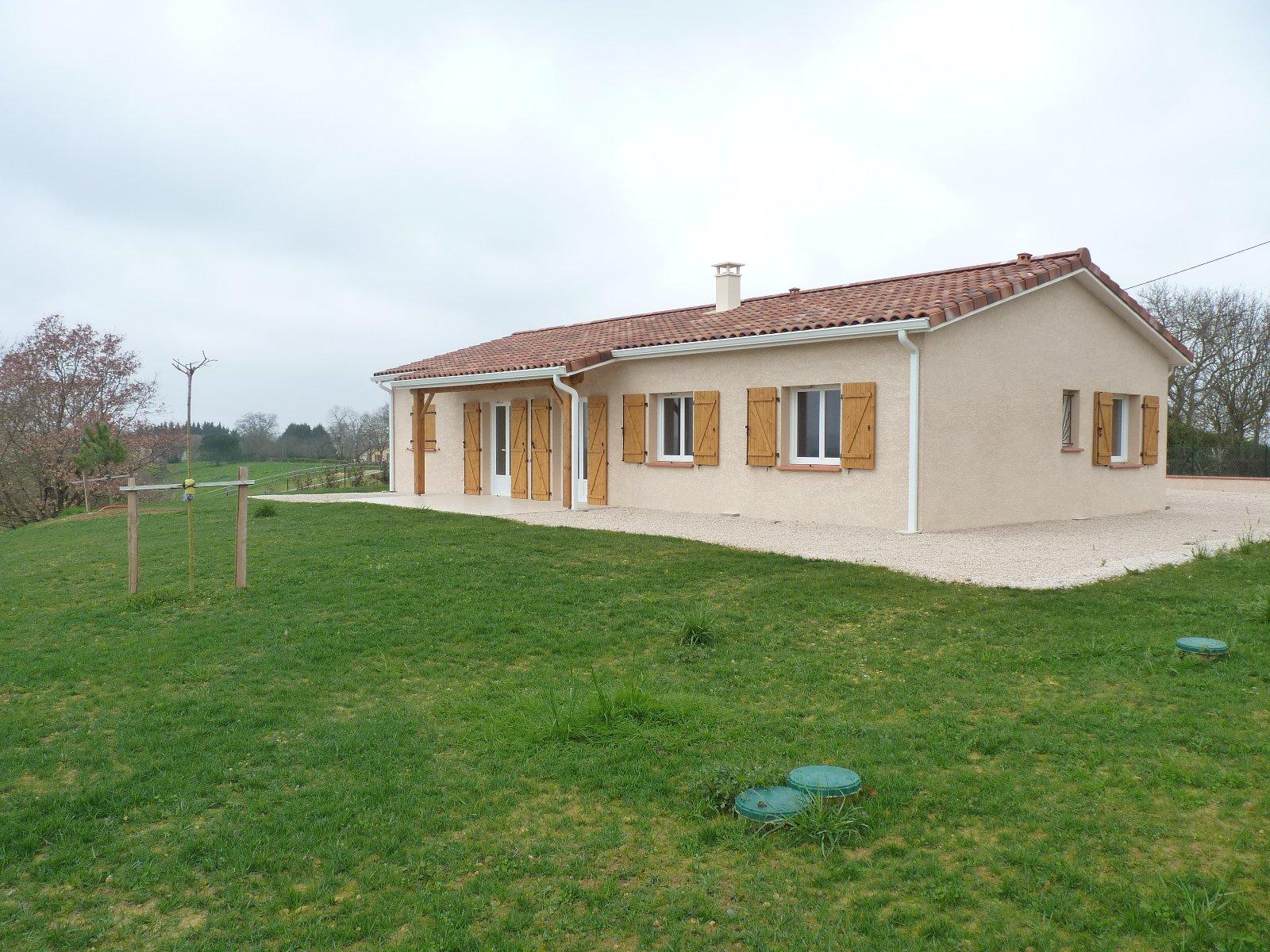 Villa T4 neuve plain pied à Eoux