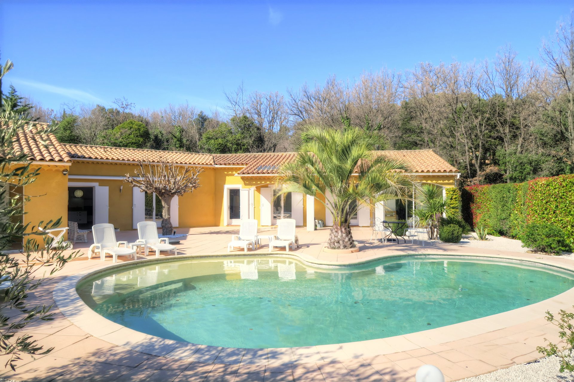 Large villa with pool walking distance to the village of Lorgues