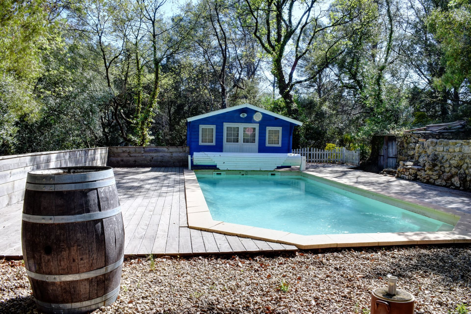 Pool area with pool house, Lorgues, Var, Provence